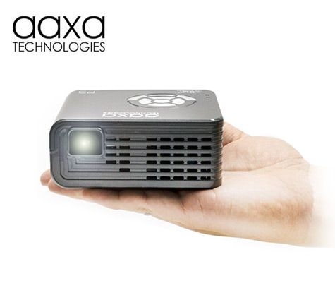 Aaxa p5 smallest 300 lumen pico projector for Worlds smallest hd projector
