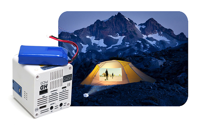 The hd pico employs a premium 150 minute lithium ion for Worlds smallest hd projector