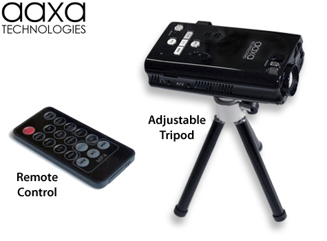 Aaxa p2 pico projector lcos based hand held pocket for Pico projector accessories