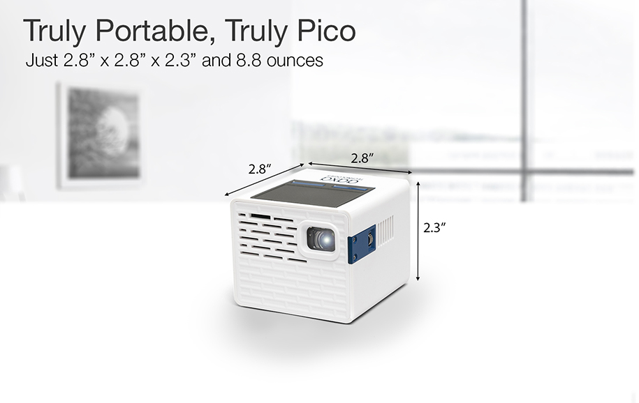 P2A Smallest 130 Lumen Pico Projector