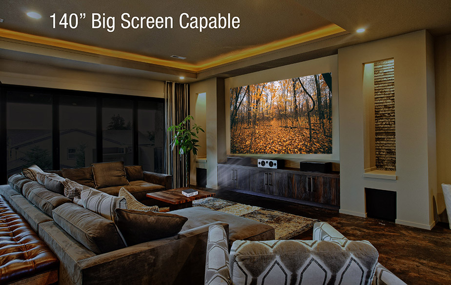 The P6 is also capable of projecting up to a 140 inch screen in low-light conditions.