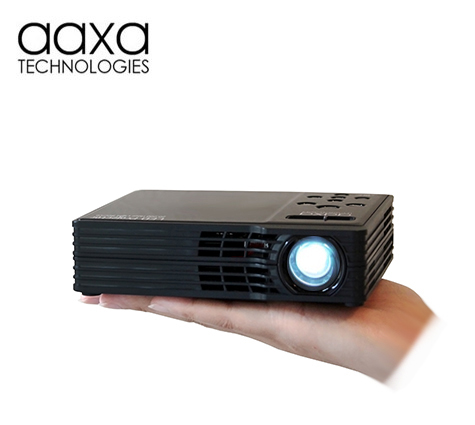 Aaxa led showtime 3d micro projector dlp portable led for Micro portable projector