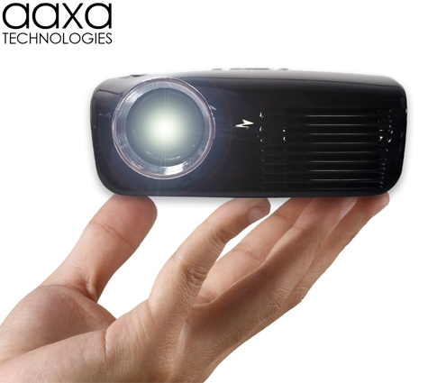 Aaxa m2 micro projector lcos hand held mini projector for A small projector