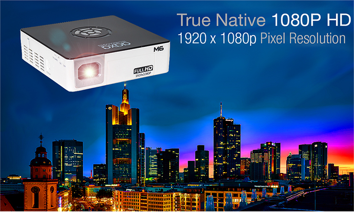 M6 Smallest 1200 Lumen Pico Projector
