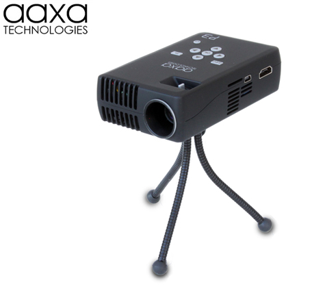 Aaxa p3 pico projector ultra bright hand held mini for Small powerful projector