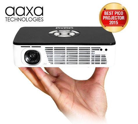 Aaxa p300 pico projector dlp hand held mini projector for Pocket projector dlp
