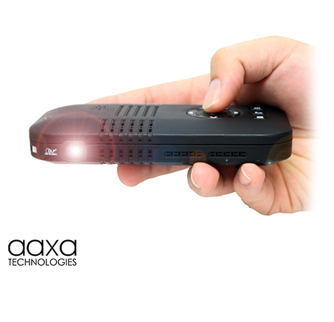 Aaxa p3 x pico projector dlp hand held mini projector for Pico pocket projector