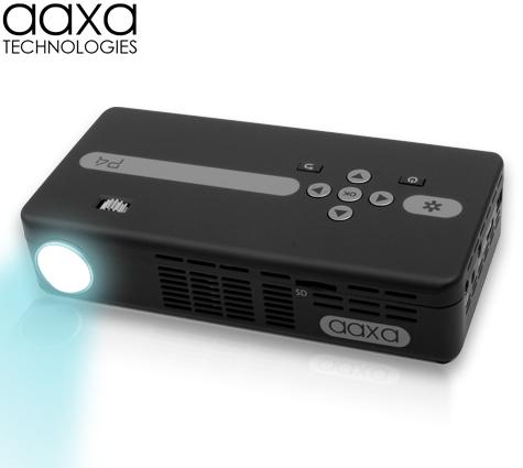 Aaxa p4 x pico projector dlp hand held mini projector for Pico projector accessories