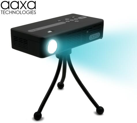 Aaxa P4 X Pico Projector Dlp Hand Held Mini Projector