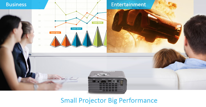P5 Smallest 300 Lumen Pico Projector