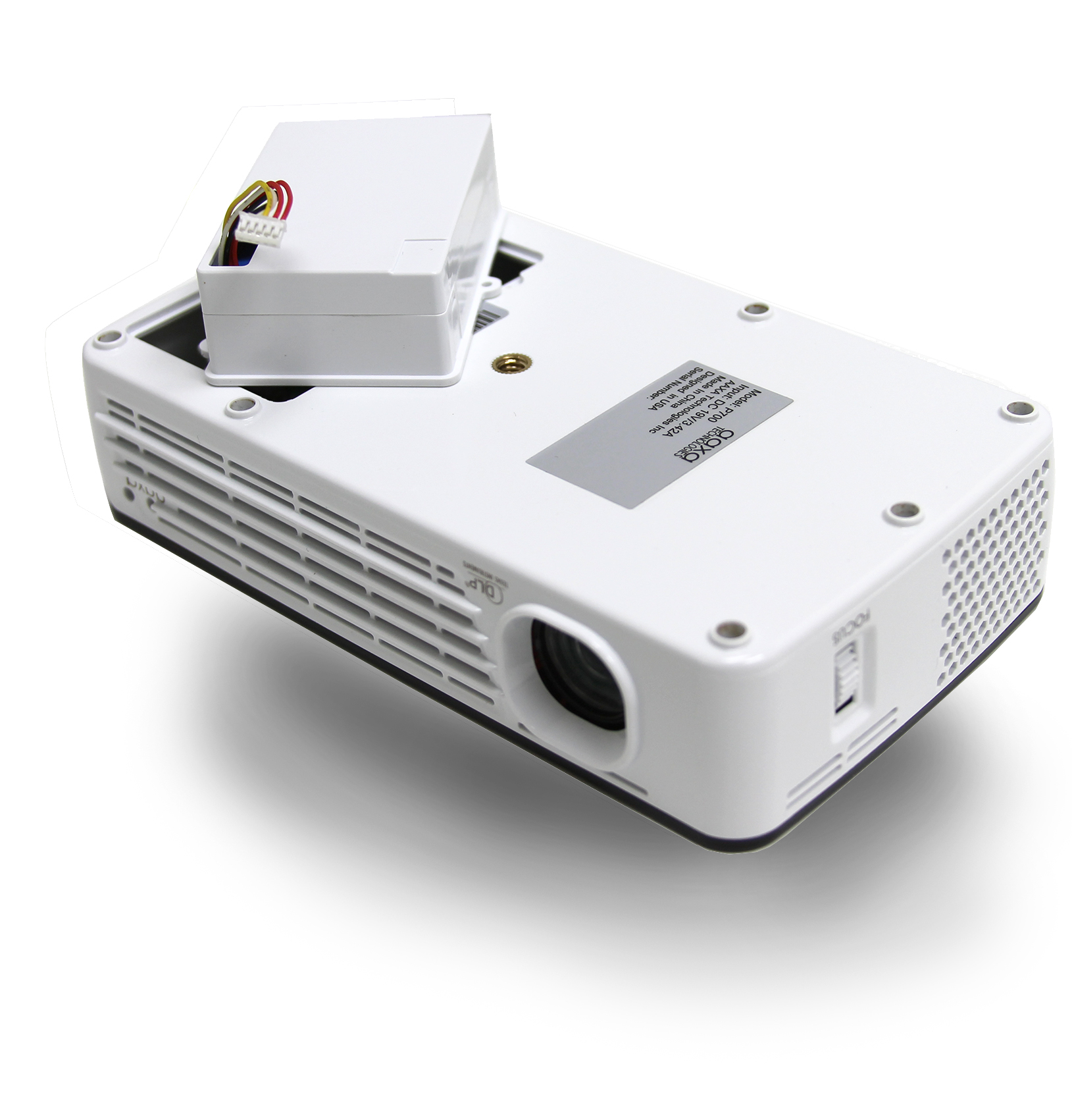 Aaxa p700 led pico projector dlp portable led micro for Micro portable projector
